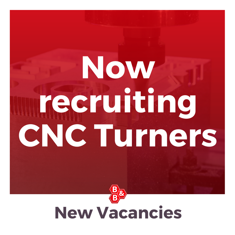 B&B Precision: now recruiting cnc turners