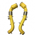 yellow gold coating exhausts