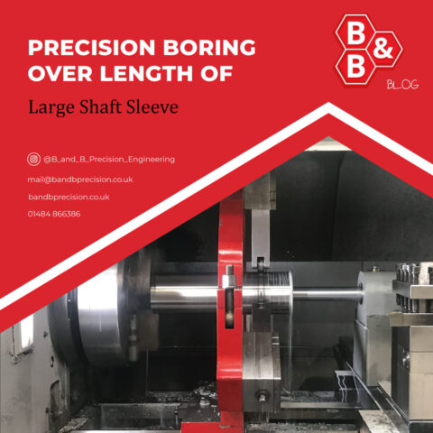 Precision boring of large shaft sleeve with tight tolerance requirement