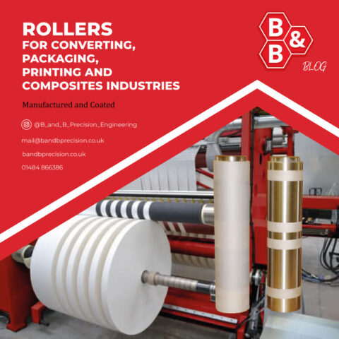 Rollers for converting, packaging, printing and composites industries